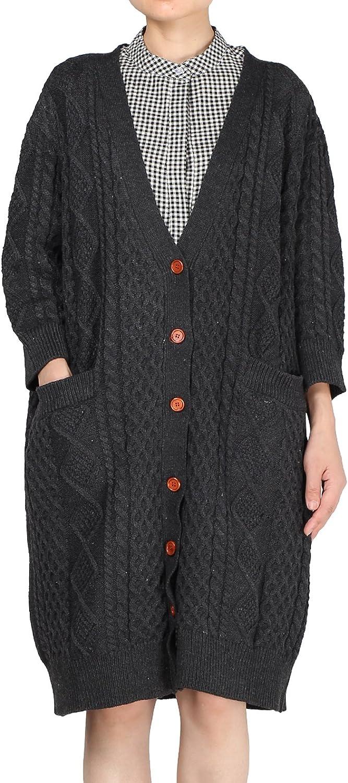 Minibee Women's Casual Knited Sweater Cardigan Coat Fit US SL