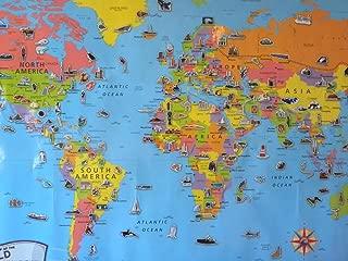 Best world atlas map poster Reviews