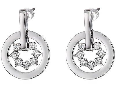 Swarovski Further Drop Circle Pierced Earrings (Crystal) Earring