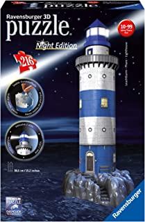 Ravensburger Lighthouse – Night Edition – 216 Piece 3D Jigsaw Puzzle for Kids..