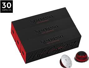 Nespresso VertuoLine Coffee, Half Caffeinato, 30 Capsules