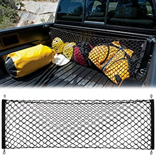AndyGo Cargo Net Envelope Style Trunk Organizer Vehicle Storage Fit for Toyota Tacoma 2015 2016 2017 2018 2019 Accessories