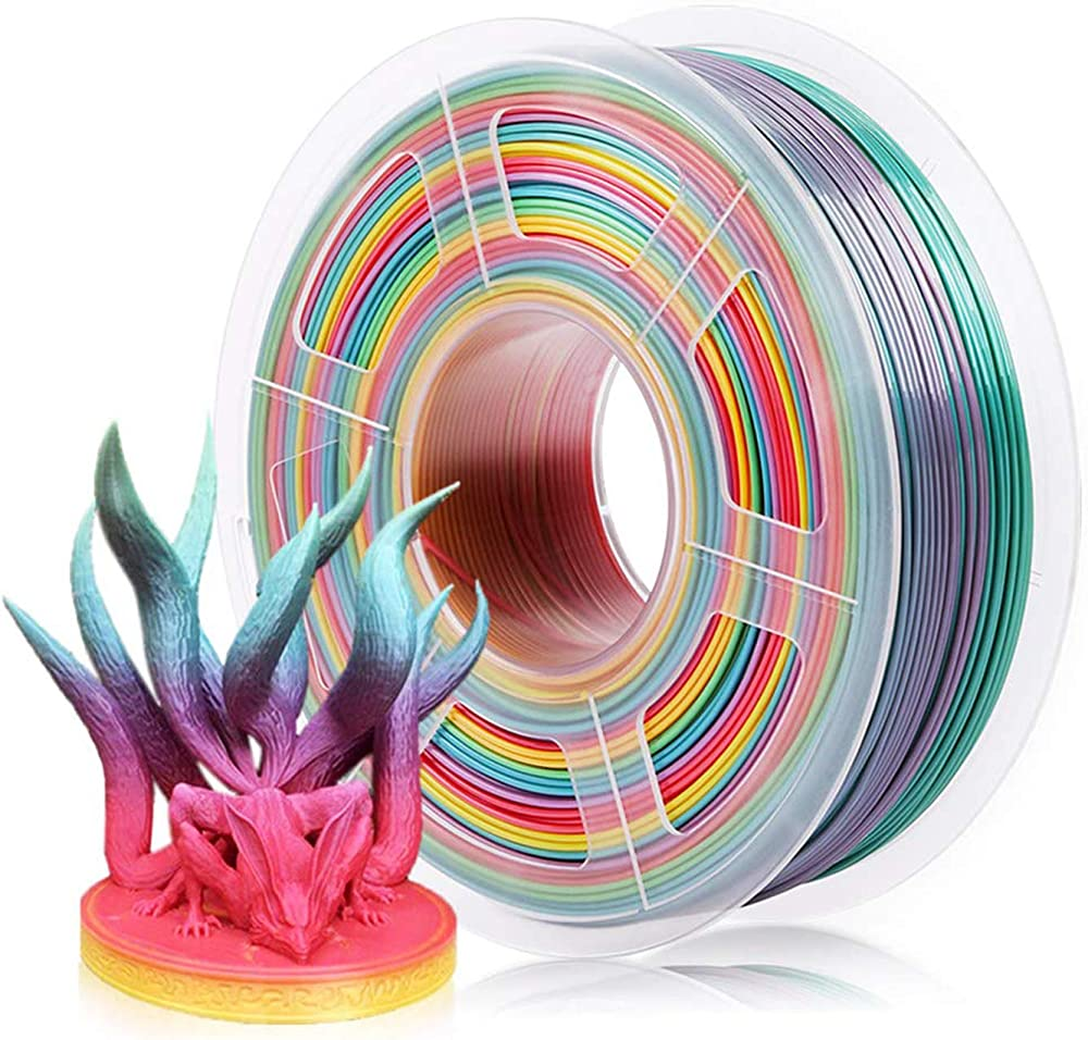 Sunlu rainbow pla filament 1.75mm ,filamento multicolore per stampante 3 d LW12D