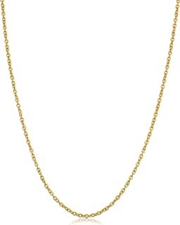 Kooljewelry 14k Yellow Gold Filled 1.4 mm Cable Chain Necklace (16, 18, 20 or 24 inch)
