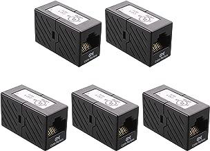 [UL Listed] Cable Matters 5-Pack Ethernet Coupler (RJ45 Coupler / Cat5e Cat6 Coupler) in Black
