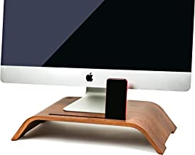 Maya Marie Wood Monitor Stand Riser Computer Desk Riser + Phone/Tablet Holder - Desktop Raiser for PC, Laptop Stand, iMac ...