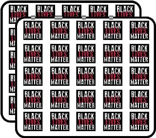 Square Black Lives Matter (Civil Rights for African Americans) Sticker for Scrapbooking, Calendars, Arts, Kids DIY Crafts, Album, Bullet Journals
