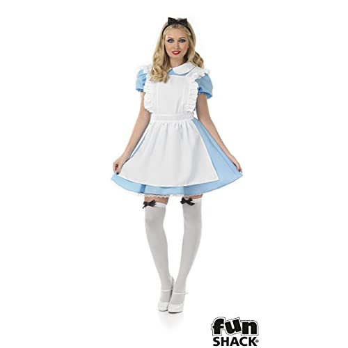 a521e090b Fun Shack Adult Fancy Dress Traditional Alice Costume Small