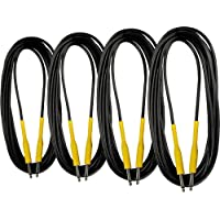 4-Pack Musician's Gear 20 Ft. Instrument Cable