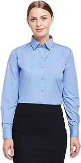Lamode Ladies Solid Classic Blue Formal Shirt 398