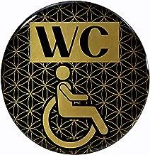 BIKE-label 900109VA Gold 3D sticker deurbordje WC rolstoel informatiebord 70 mm