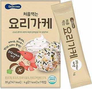BeBecook My First Yummy Quick Food Mix, Shrimp, Mushroom & Cream, 4g, (Pack of 7)