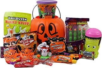 Happy Halloween Gift Pumpkin Basket!!! Toys and Candy BOO!!! FILLED TO THE TOP!!
