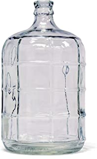 Glass Carboy Fermenter for Beer Brewing, Wine Making, Fermentation (3 Gallon)