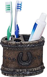horseshoe toothbrush holder
