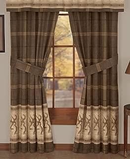 Browning Buckmark - Rod Pocket Curtains - 42 x 84