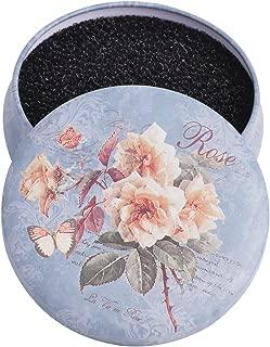 KDKD Color Removal Sponge, Quick Shaking Off Eyeshadow Powder Colors form Makeup Brush on Sponge, Round Blue Rose Case