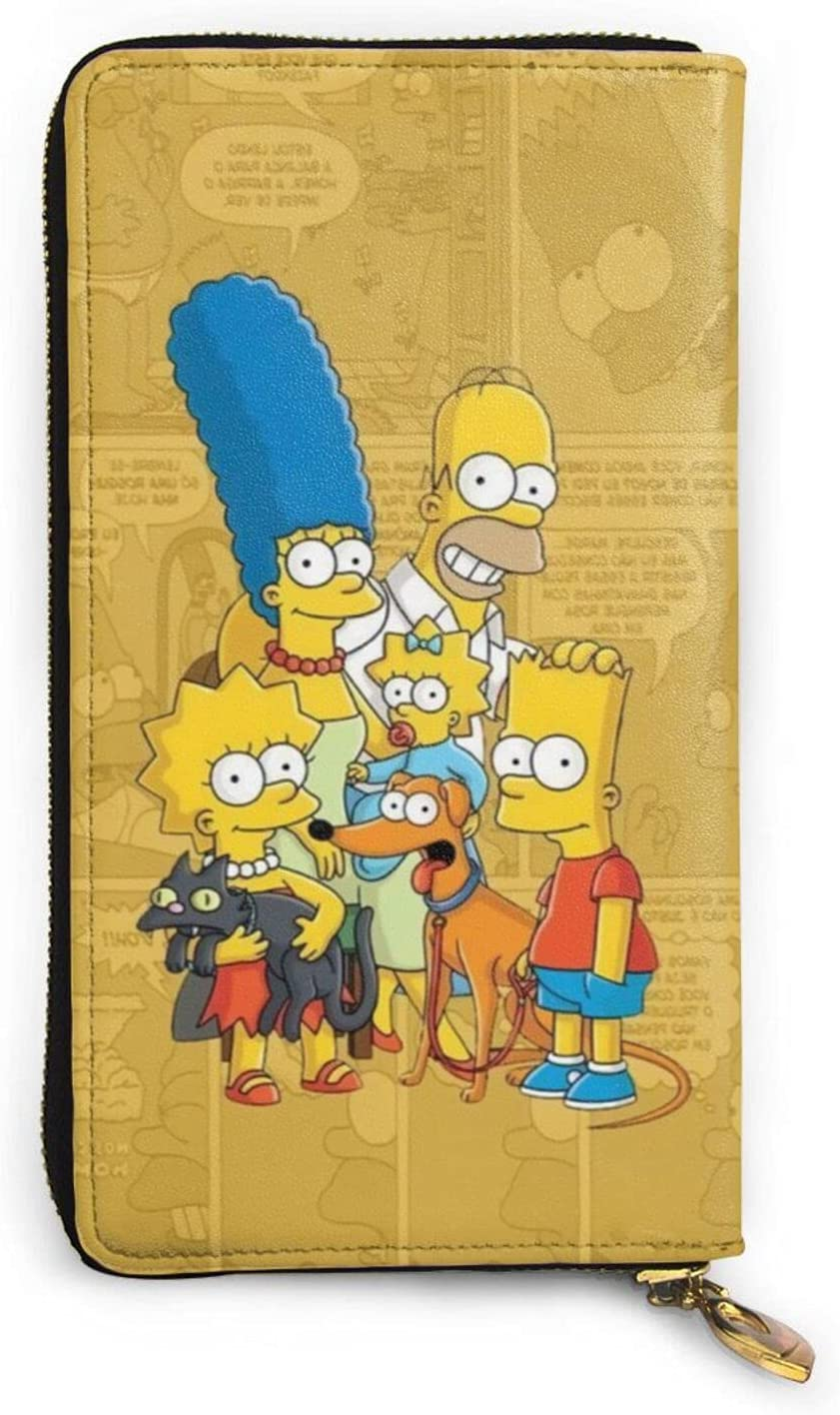 The Simpsons Wallet Leather 2021 autumn and winter new Portable Attention brand Zipper Card Credit Wallets