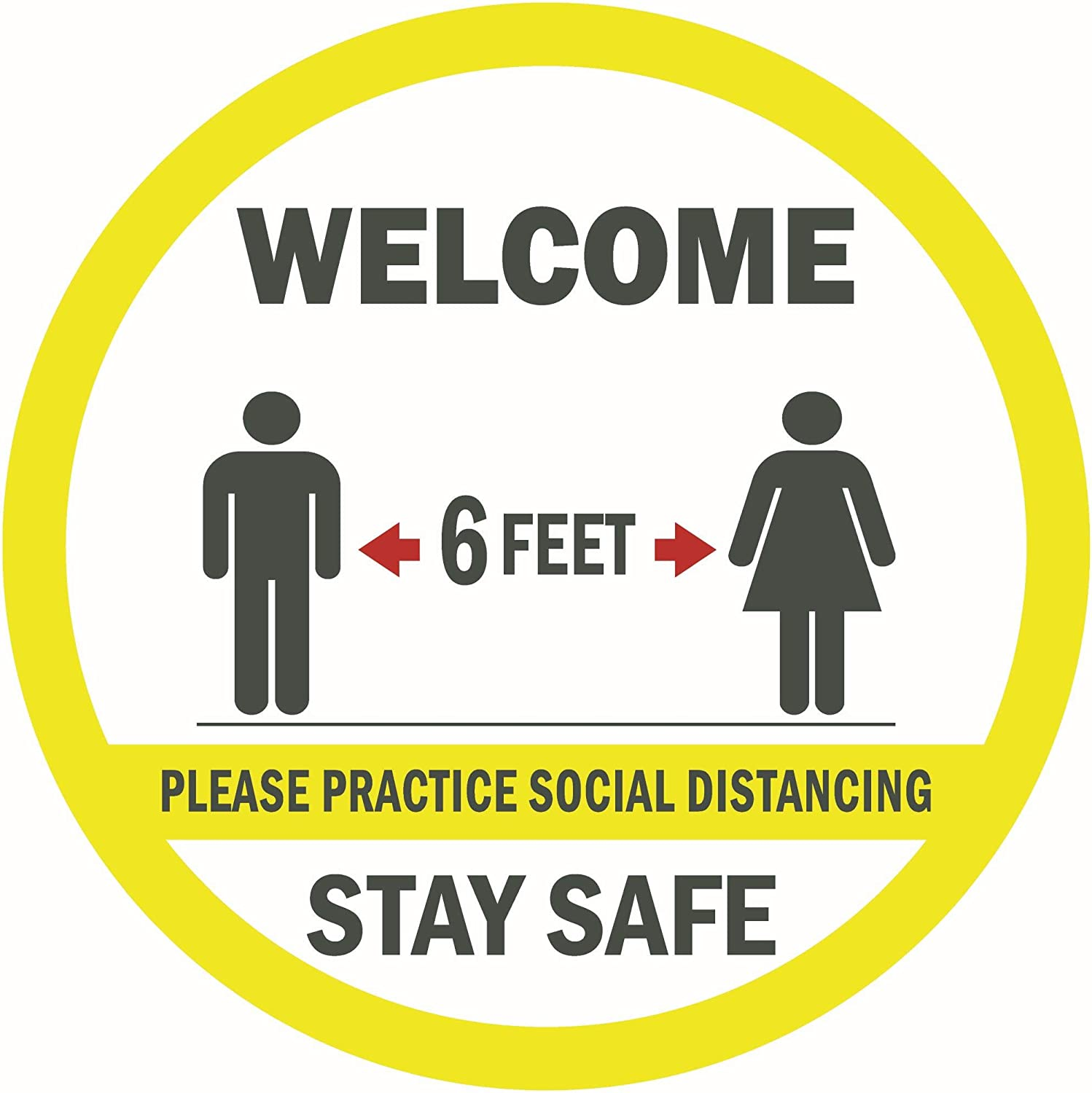 safe distancing signs