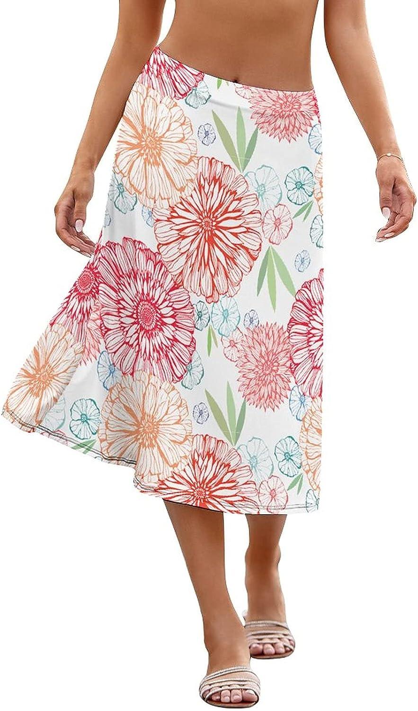 LpWu Peony FlowerwomensWomen Beach Wrap Spring new work one after another Skirt Bathing Sheer Sui Sale
