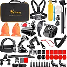 Kitway 65-in-1 Action Camera Accessories Kit for Akaso EK7000/DJI Osmo Pocket/Wewdigi EV5000/GoPro Max, Hero 8 Black, Hero 7 Black 6 5 4 3+ 3 2 1/DBpower N6/Crosstour (Accessories for Action camare)