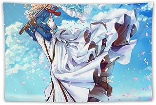 ヴァイオレット・エヴァーガーデン 薇尔莉特·伊芙加登 克劳迪亚·霍金斯 基尔伯特·布甘比利亚 タペストリー ウォールデコレーション 屋内ルームデコレーション 多機能ファブリック ポスター パーソナルギフト ビーチピクニッククロス