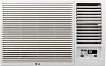 LG LW8016HR 7,500 115V Window-Mounted 3,850 BTU Supplemental Heat Function Air Conditioner, White
