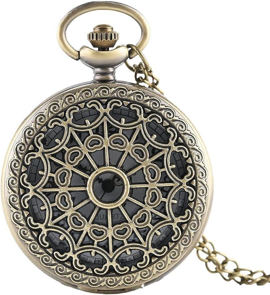 YHYHNE Vintage Max 87% OFF Quartz Pocket Watch for Men Necklace 2021 model Watc Hollow