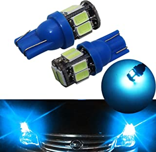 YaaGoo 2 pack Compact Small bulb License Plate Lights Lamp,T10 168 194 2825 W5W,ice blue,2pcs