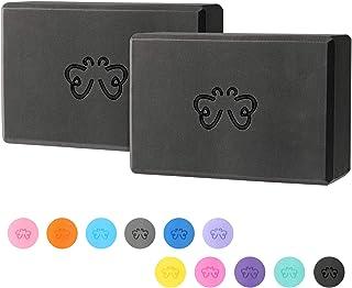 Yoga Blocks 2 Pack for Women Home Yoga Beginners Practices Class Studio Accessories,Pilates, Meditation,High Density EVA N...