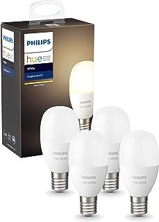 【Amazon.co.jp 限定】Philips Hue ホワイトシングルランプE17(電球色) 4個セット  2700K E17スマートLEDライト4個 【Amazon Echo、Google Home、Apple HomeKit、LINE対...