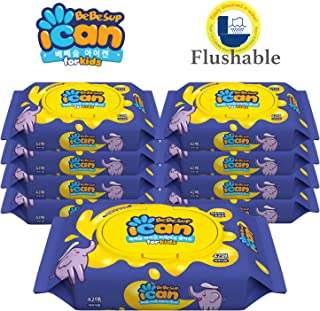 [Flushable] Bebesup ICAN Cap 42s Training Wipes - Carton