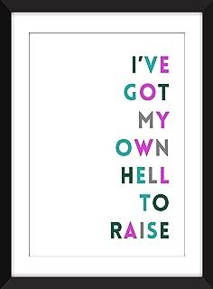 I've Got My Own Hell to Raise Unframed Print/Fiona Apple Sleep to Dream Lyric