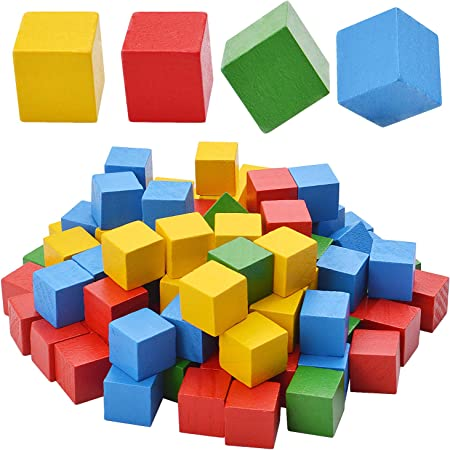 Kole Imports Colored Wooden Craft Blocks