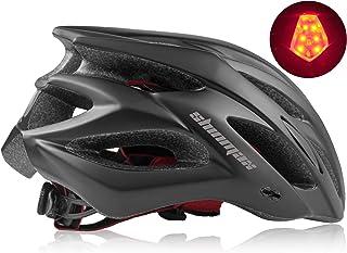 Shinmax Casco de Bicicleta con Visera Desmontable Casco de Ciclismo Sport Cascos de Bicicleta livianos para Hombres y Mujeres Protección de Seguridad Vial en Bicicleta