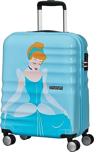 American Tourister Wavebreaker Disney Deluxe - Spinner S Bagage Cabine, 55 cm, 36 L, Bleu (Cinderella)