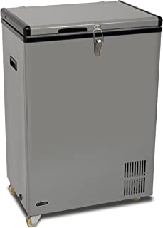 Whynter FM-951GW 95 Quart Wheeled Door Alert and 12v Option Portable Fridge/Freezers, One Size, Gray