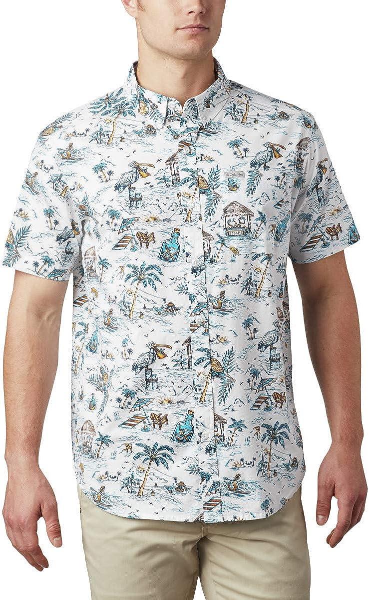 Columbia Men's Rapid Rivers アイテム勢ぞろい Sleeve 中古 Shirt Short Printed