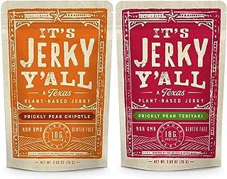Vegan Jerky Sweet & Spicy Pack - Chipotle & Teriyaki - Beyond Tender and Tasty Vegan Snacks -  Low Carb, Non-GMO, Gluten-Free, Vegetarian, Kosher, Whole30 (2-Pack)
