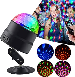 Disco Ball Strobe Party Light Sound Activated 7 Modes Birthday Party Lights for Parties Dance Wedding Karaoke Club DJ with Remote Control