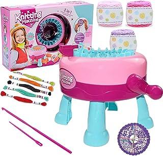WYJW Ensemble de Machine à Tricoter pour Enfants, métier à Tisser Rond Intelligent pour Chapeaux de Bricolage écharpes Gan...
