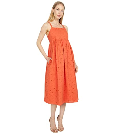 Madewell Eyelet Summertime Cami Midi Dress