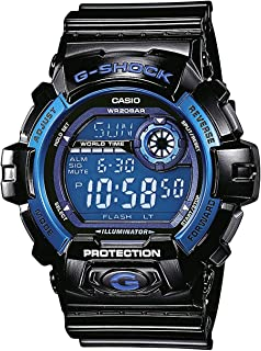 Casio G-Shock Digital Mens Black/Blue Watch G-8900A-1DR