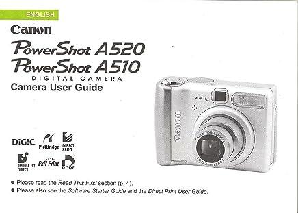 Canon powershot a510 a520 digital camera user guide instruction.