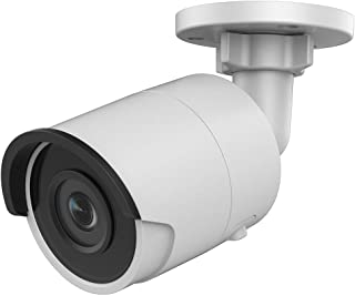 4MP PoE Security IP Camera - Compatible with Hikvision DS-2CD2043G0-I Mini Bullet EXIR Night Vision 4mm Fixed Lens H.265+ ...