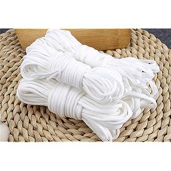 ゴム 丸ゴム 20m ホワイト 裁縫道具 柔らかい 手作り用ゴム 手芸用 花粉 風邪