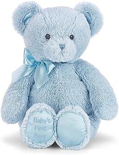 "Bearington Baby`s First Teddy Bear Blue Plush Stuffed Animal, 12"""