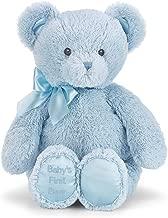 Bearington Baby's First Teddy Bear Blue Plush Stuffed Animal, 12