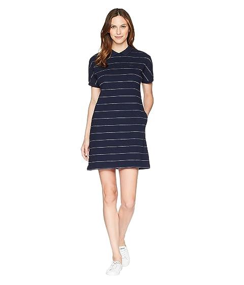 660e793e1 Lacoste Short Sleeve Mini Waffle Cotton Clear Lines Polo Dress at 6pm