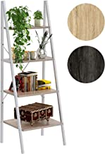 4NM Industrial 4-Tier Ladder Shelf, Metal Bookshelf Multifunctional Plant Flower Stand..
